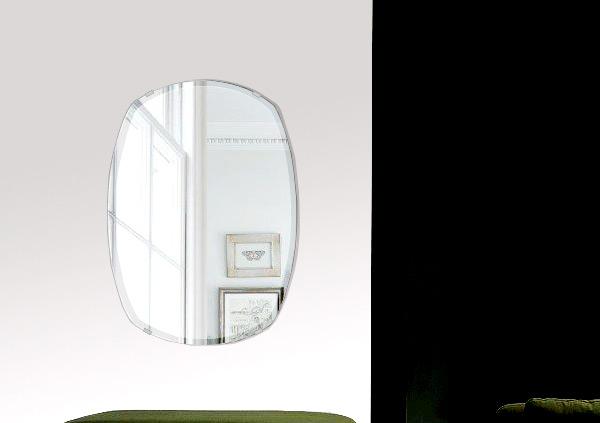 鏡 壁掛け 鏡 ミラー 壁掛け 高透過 超透明鏡 クリスタルミラー シリーズ(一般空間用):sc-cushion400x560-9mm(クッション)(スーパークリアーミラー クリスタルカットタイプ)( 鏡 壁掛け 鏡 姿見 壁掛けミラー ウォールミラー )