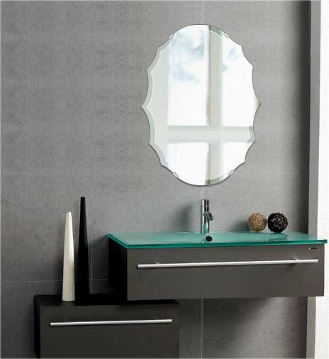鏡 ミラー 高透過 超透明鏡 トイレ鏡 洗面鏡 化粧鏡 浴室鏡 クリスタルミラー シリーズ スーパークリアーミラー デラックスカットタイプ クレスト(Crest):scdx-crest400x533-18mm( 鏡 壁掛け 鏡 姿見 壁掛けミラー ウォールミラー )