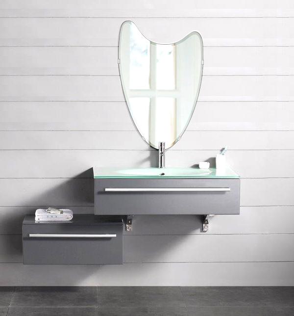クリスタル ミラー 洗面鏡 浴室鏡 400x610mm ウエーブ クリスタルカット 洗面 鏡 浴室 壁掛け ミラー 日本製 5mm厚 取付金具と説明書 壁掛け鏡 ウオールミラー 防湿鏡 姿見 全身 おしゃれ 軽量 波 波形 洗面台 防湿 お風呂