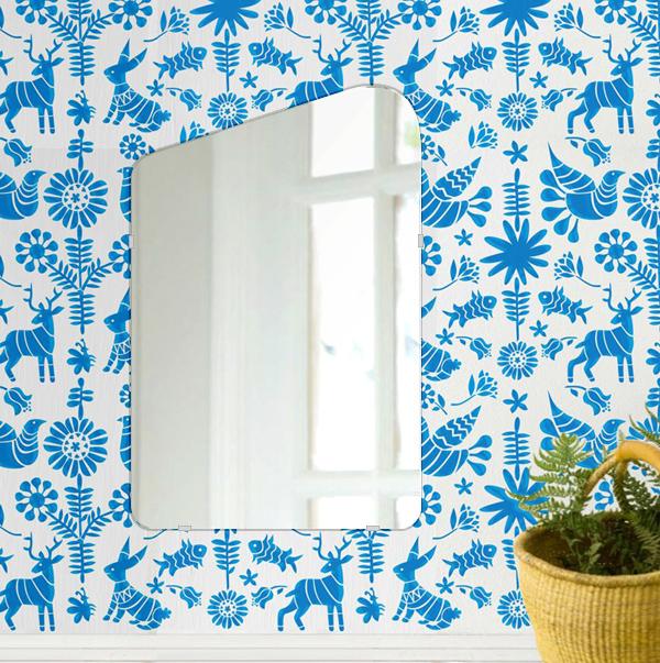 鏡 壁掛け 鏡 ミラー 日本製 高透過 超透明鏡 アイスバーグ(氷山形) 400mm×610mm スーパークリアーミラー シンプルタイプ 国産 フレームレスミラー 壁掛け鏡 壁掛けミラー ウォールミラー 姿見 姿見鏡 インテリアミラー (リビング、玄関、廊下、寝室など一般空間用)
