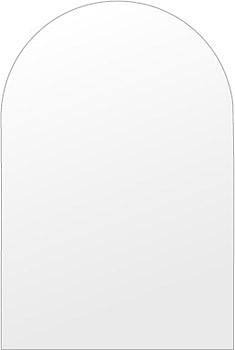 洗面鏡 浴室鏡 トイレ鏡 化粧鏡 日本製 高透過 超透明鏡 アーチ(天丸形) 350mm×450mm スーパークリアーミラー シンプルタイプ 国産 フレームレスミラー 風呂 鏡 壁掛け鏡 壁掛けミラー ウオールミラー 姿見 姿見鏡 ミラー