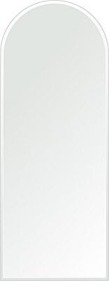 洗面鏡 浴室鏡 トイレ鏡 化粧鏡 日本製 アーチ(天丸形) 350mm×900mm クリアーミラー クリスタルカット 国産 フレームレスミラー 風呂 鏡 壁掛け鏡 壁掛けミラー ウオールミラー 姿見 姿見鏡 ミラー