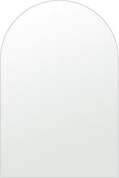 トイレ 鏡 400x600mm アーチ形状 シンプルカット トイレ鏡 鏡 トイレ 壁掛け ミラー 壁掛け 日本製 5mm厚 取付金具と説明書 壁掛け鏡 壁に直付け ウオールミラー 姿見 鏡 全身 おしゃれ 軽量 天丸形