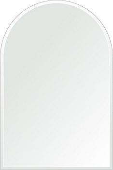 クリスタル ミラー 400x600mm アーチ形状 クリスタルカット 鏡 壁掛け ミラー 壁掛け 日本製 5mm厚 玄関 リビング 寝室 トイレ 取付金具と説明書 壁掛け鏡 壁に直付け ウオールミラー 姿見 全身 おしゃれ 軽量 天丸形