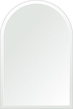 洗面鏡 浴室鏡 トイレ鏡 化粧鏡 日本製 アーチ(天丸形) 400mm×600mm クリアーミラー デラックスカット 国産 フレームレスミラー 風呂 鏡 壁掛け鏡 壁掛けミラー ウオールミラー 姿見 姿見鏡 ミラー