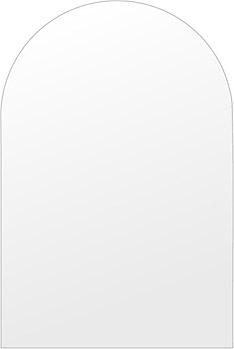 洗面鏡 浴室鏡 トイレ鏡 化粧鏡 日本製 高透過 超透明鏡 アーチ(天丸形) 400mm×600mm スーパークリアーミラー シンプルタイプ 国産 フレームレスミラー 風呂 鏡 壁掛け鏡 壁掛けミラー ウオールミラー 姿見 姿見鏡 ミラー