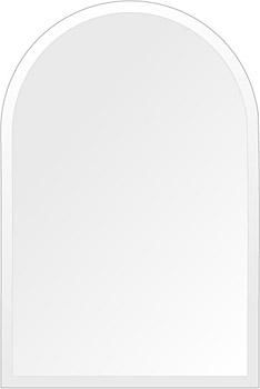 飛散防止加工 鏡 ミラー 高透過 超透明鏡 安心 安全 クリスタルミラー シリーズ:scdx-arch400x600-18mm-HS(アーチ)(スーパークリアーミラー デラックスカットタイプ)アイビーオリジナル 洗面 浴室 風呂 トイレ 鏡 ミラー