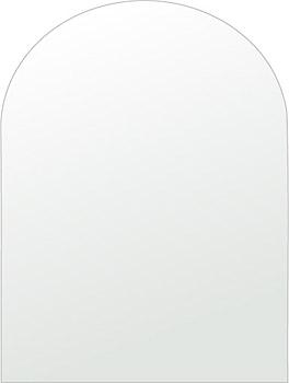 トイレ 鏡 450x600mm アーチ形状 シンプルカット トイレ鏡 鏡 トイレ 壁掛け ミラー 壁掛け 日本製 5mm厚 取付金具と説明書 壁掛け鏡 壁に直付け ウオールミラー 姿見 鏡 全身 おしゃれ 軽量 天丸形