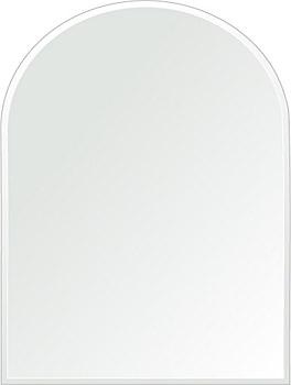 鏡 壁掛け 鏡 ミラー 日本製 アーチ(天丸形) 450mm×600mm クリアーミラー クリスタルカット 国産 フレームレスミラー 壁掛け鏡 壁掛けミラー ウォールミラー 姿見 姿見鏡 インテリアミラー (リビング、玄関、廊下、寝室など一般空間用)