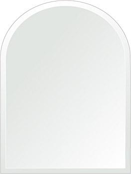 洗面鏡 浴室鏡 トイレ鏡 化粧鏡 日本製 アーチ(天丸形) 450mm×600mm クリアーミラー デラックスカット 国産 フレームレスミラー 風呂 鏡 壁掛け鏡 壁掛けミラー ウオールミラー 姿見 姿見鏡 ミラー