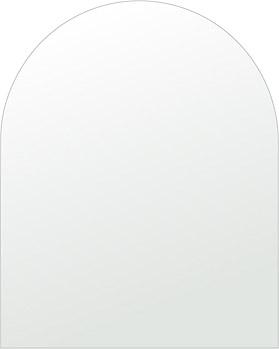 鏡 壁掛け 鏡 ミラー 日本製 アーチ(天丸形) 600mm×750mm クリアーミラー シンプルタイプ 国産 フレームレスミラー 壁掛け鏡 壁掛けミラー ウォールミラー 姿見 姿見鏡 インテリアミラー (リビング、玄関、廊下、寝室など一般空間用)
