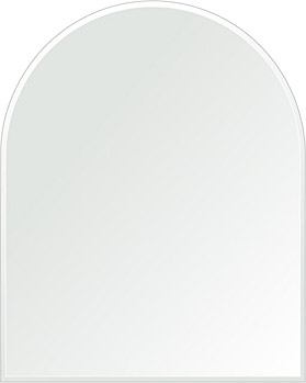 洗面鏡 浴室鏡 トイレ鏡 化粧鏡 日本製 アーチ(天丸形) 600mm×750mm クリアーミラー クリスタルカット 国産 フレームレスミラー 風呂 鏡 壁掛け鏡 壁掛けミラー ウオールミラー 姿見 姿見鏡 ミラー