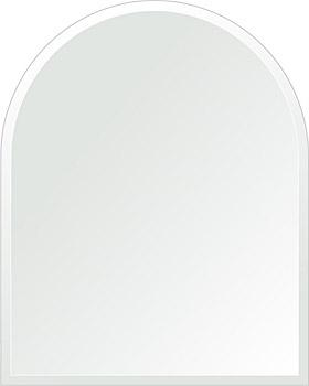 鏡 壁掛け 鏡 ミラー 日本製 アーチ(天丸形) 600mm×750mm クリアーミラー デラックスカット 国産 フレームレスミラー 壁掛け鏡 壁掛けミラー ウォールミラー 姿見 姿見鏡 インテリアミラー (リビング、玄関、廊下、寝室など一般空間用)