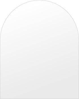 スーパークリアー ミラー 600x750mm アーチ形状 シンプルカット 鏡 壁掛け ミラー 壁掛け 日本製 5mm厚 玄関 リビング 寝室 トイレ 取付金具と説明書 高透過 高精彩 壁掛け壁 壁に直付け ウオールミラー 姿見 全身 おしゃれ 軽量 天丸形