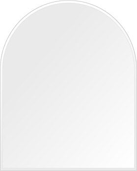 洗面鏡 浴室鏡 トイレ鏡 化粧鏡 日本製 高透過 超透明鏡 アーチ(天丸形) 600mm×750mm クリアーミラー クリスタルカット 国産 フレームレスミラー 風呂 鏡 壁掛け鏡 壁掛けミラー ウオールミラー 姿見 姿見鏡 ミラー
