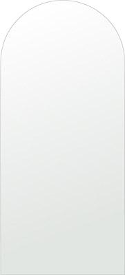 洗面鏡 浴室鏡 トイレ鏡 化粧鏡 日本製 アーチ(天丸形) 450mm×1000mm クリアーミラー シンプルタイプ 国産 フレームレスミラー 風呂 鏡 壁掛け鏡 壁掛けミラー ウオールミラー 姿見 姿見鏡 ミラー