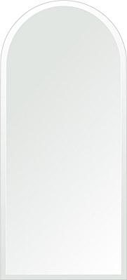 洗面鏡 浴室鏡 トイレ鏡 化粧鏡 日本製 アーチ(天丸形) 450mm×1000mm クリアーミラー デラックスカット 国産 フレームレスミラー 風呂 鏡 壁掛け鏡 壁掛けミラー ウオールミラー 姿見 姿見鏡 ミラー