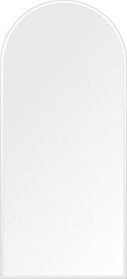 鏡 壁掛け 鏡 ミラー 日本製 高透過 超透明鏡 アーチ(天丸形) 450mm×1000mm スーパークリアーミラー クリスタルカット 国産 フレームレスミラー 壁掛け鏡 壁掛けミラー ウォールミラー 姿見 姿見鏡 インテリアミラー (リビング、玄関、廊下、寝室など一般空間用)