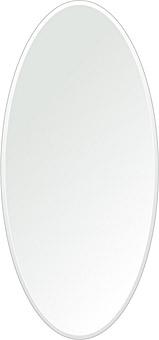 飛散防止加工 鏡 ミラー 安心 安全 クリスタルミラー シリーズ:cdx-oval350x750-9mm-HS(オーバル)(クリアーミラー クリスタルカットタイプ)日本製 アイビーオリジナル洗面 浴室 風呂 トイレ 水廻り 壁掛け 姿見 鏡