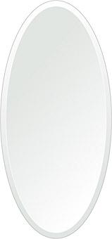 飛散防止加工 鏡 ミラー 安心 安全 クリスタルミラー シリーズ:cdx-oval350x750-18mm-HS(オーバル)(クリアーミラー デラックスカットタイプ)日本製 アイビーオリジナル洗面 浴室 風呂 トイレ 水廻り 壁掛け 姿見 鏡