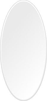 鏡 壁掛け 鏡 ミラー 日本製 高透過 超透明鏡 楕円形 鏡 350mm×750mm スーパークリアーミラー クリスタルカット 国産 フレームレスミラー 壁掛け鏡 壁掛けミラー ウォールミラー 姿見 姿見鏡 インテリアミラー (リビング、玄関、廊下、寝室など一般空間用)