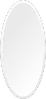 洗面鏡 浴室鏡 トイレ鏡 化粧鏡 日本製 高透過 超透明鏡 楕円形 鏡 350mm×750mm クリアーミラー デラックスカット 国産 フレームレスミラー 風呂 鏡 壁掛け鏡 壁掛けミラー ウオールミラー 姿見 姿見鏡 ミラー