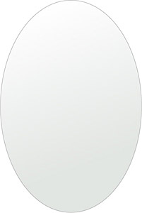 トイレ 鏡 400x600mm 楕円形 シンプルカット トイレ鏡 鏡 トイレ 壁掛け ミラー 壁掛け 日本製 5mm厚 取付金具と説明書 壁掛け鏡 壁に直付け ウオールミラー 姿見 鏡 全身 おしゃれ 軽量 楕円 丸 長丸 丸い オーバル