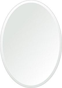 飛散防止加工 鏡 ミラー 安心 安全 クリスタルミラーシリーズ(一般空間用):c-oval500x700-18mm-HS(オーバル)(クリアーミラー デラックスカットタイプ)日本製 アイビーオリジナル 壁掛け鏡 ウォールミラー 姿見 鏡 専用取付金具付き