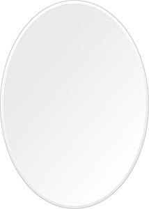 鏡 壁掛け 鏡 ミラー 日本製 高透過 超透明鏡 楕円形 鏡 500mm×700mm スーパークリアーミラー クリスタルカット 国産 フレームレスミラー 壁掛け鏡 壁掛けミラー ウォールミラー 姿見 姿見鏡 インテリアミラー (リビング、玄関、廊下、寝室など一般空間用)