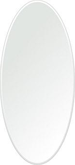 鏡 壁掛け 鏡 ミラー 日本製 楕円形 鏡 420mm×920mm クリアーミラー クリスタルカット 国産 フレームレスミラー 壁掛け鏡 壁掛けミラー ウォールミラー 姿見 姿見鏡 インテリアミラー (リビング、玄関、廊下、寝室など一般空間用)