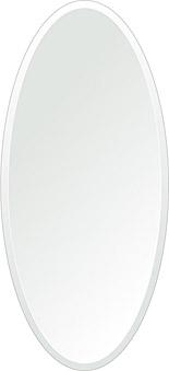トイレ鏡 洗面鏡 化粧鏡 浴室鏡 クリスタルミラー シリーズ:cdx-oval420x920-18mm(オーバル)(クリアーミラー デラックスカットタイプ)( 鏡 壁掛け 鏡 姿見 壁掛けミラー ウォールミラー )