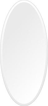 鏡 壁掛け 鏡 ミラー 日本製 高透過 超透明鏡 楕円形 鏡 420mm×920mm スーパークリアーミラー デラックスカット 国産 フレームレスミラー 壁掛け鏡 壁掛けミラー ウォールミラー 姿見 姿見鏡 インテリアミラー (リビング、玄関、廊下、寝室など一般空間用)