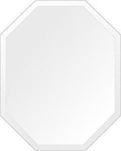 鏡 壁掛け 鏡 ミラー 日本製 高透過 超透明鏡 八角形 鏡 400mm×500mm スーパークリアーミラー デラックスカット 国産 フレームレスミラー 壁掛け鏡 壁掛けミラー ウォールミラー 姿見 姿見鏡 インテリアミラー (リビング、玄関、廊下、寝室など一般空間用)