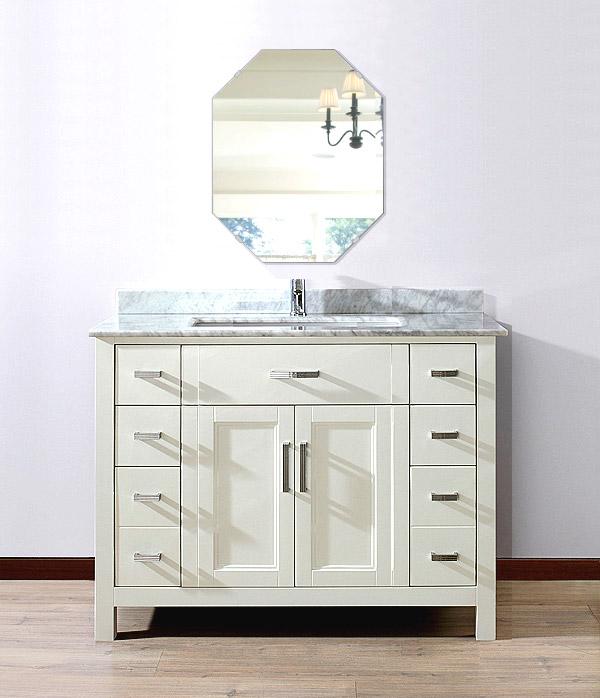 飛散防止加工 鏡 ミラー 安心 安全 クリスタルミラー シリーズ:cdx-octagon400x500-km-HS(オクタゴン)(クリアーミラー シンプルタイプ)日本製 アイビーオリジナル洗面 浴室 風呂 トイレ 水廻り 壁掛け 姿見 鏡