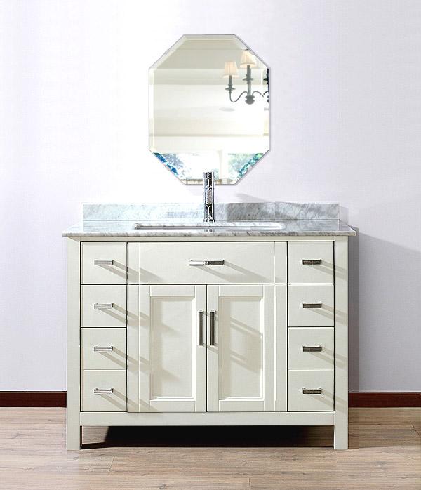 洗面鏡 浴室鏡 トイレ鏡 化粧鏡 日本製 八角形 鏡 400mm×500mm クリアーミラー デラックスカット 国産 フレームレスミラー 風呂 鏡 壁掛け鏡 壁掛けミラー ウオールミラー 姿見 姿見鏡 ミラー