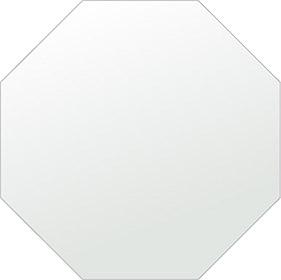 鏡 正八角形 600x600mm シンプルカット 日本製 鏡 壁掛け ミラー 壁掛け 5mm厚 取付金具と説明書 壁掛け鏡 壁に直付け ウオールミラー 姿見 鏡 全身 おしゃれ 軽量 (8角 八角 八角形 正八角 オクタゴン 正八角鏡)