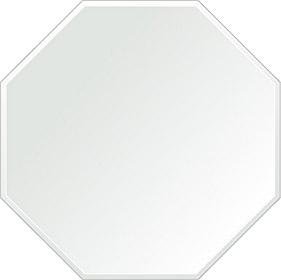 鏡 壁掛け 鏡 ミラー 日本製 正八角形 鏡 600mm×600mm クリアーミラー クリスタルカット 国産 フレームレスミラー 壁掛け鏡 壁掛けミラー ウォールミラー 姿見 姿見鏡 インテリアミラー (リビング、玄関、廊下、寝室など一般空間用)