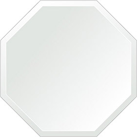 トイレ鏡 洗面鏡 化粧鏡 浴室鏡 クリスタルミラー シリーズ:cdx-regularoctagon500x500-18mm(レギュラーオクタゴン)(クリアーミラー デラックスカットタイプ)( 鏡 壁掛け 鏡 姿見 壁掛けミラー ウォールミラー )