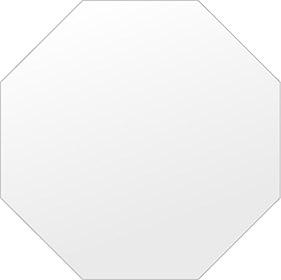 鏡 壁掛け 鏡 ミラー 日本製 高透過 超透明鏡 正八角形 鏡 450mm×450mm スーパークリアーミラー シンプルタイプ 国産 フレームレスミラー 壁掛け鏡 壁掛けミラー ウォールミラー 姿見 姿見鏡 インテリアミラー (リビング、玄関、廊下、寝室など一般空間用)