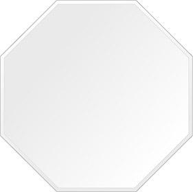 スーパークリアー ミラー 600x600mm 正八角形 クリスタルカット 鏡 壁掛け ミラー 壁掛け 日本製 5mm厚 玄関 リビング 寝室 トイレ 取付金具と説明書 高透過 高精彩 壁掛け壁 壁に直付け ウオールミラー 姿見 全身 おしゃれ 軽量 正八角 八角形 オクタゴン
