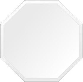 鏡 壁掛け 鏡 ミラー 日本製 高透過 超透明鏡 正八角形 鏡 600mm×600mm スーパークリアーミラー デラックスカット 国産 フレームレスミラー 壁掛け鏡 壁掛けミラー ウォールミラー 姿見 姿見鏡 インテリアミラー (リビング、玄関、廊下、寝室など一般空間用)