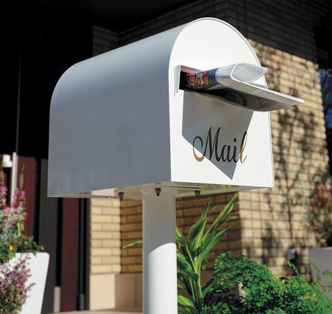 スタンドポスト ポスト スタンドタイプ 郵便ポスト 郵便受け メールボックス アメリカンポスト ステンレス製 ステンレス ダイヤル錠 スタンド 北欧:3S10S5