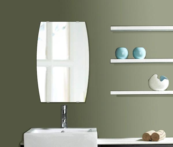 洗面鏡 浴室鏡 トイレ鏡 化粧鏡 日本製 ドラム 400mm×610mm クリアーミラー シンプルタイプ 国産 フレームレスミラー 風呂 鏡 壁掛け鏡 壁掛けミラー ウオールミラー 姿見 姿見鏡 ミラー