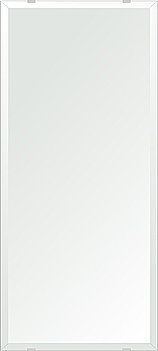 クリスタル ミラー 350x800mm 長方形 デラックスカット 鏡 壁掛け ミラー 壁掛け 日本製 5mm厚 玄関 リビング 寝室 トイレ 取付金具と説明書 壁掛け鏡 壁に直付け ウオールミラー 姿見 全身 おしゃれ 軽量 角型 四角 四角形