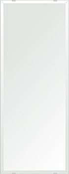 クリスタル ミラー 350x900mm 長方形 デラックスカット 鏡 壁掛け ミラー 壁掛け 日本製 5mm厚 玄関 リビング 寝室 トイレ 取付金具と説明書 壁掛け鏡 壁に直付け ウオールミラー 姿見 全身 おしゃれ 軽量 角型 四角 四角形