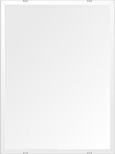 洗面鏡 浴室鏡 トイレ鏡 化粧鏡 日本製 高透過 超透明鏡 四角形 鏡 457mmx610mm スーパークリアーミラー デラックスカット 国産 フレームレスミラー 風呂 鏡 壁掛け鏡 壁掛けミラー ウオールミラー 姿見 姿見鏡 ミラー