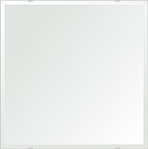 クリスタル ミラー 洗面鏡 浴室鏡 600x600mm 正方形 デラックスカット 洗面 鏡 浴室 壁掛け ミラー 日本製 5mm厚 取付金具と説明書 壁掛け鏡 ウオールミラー 防湿鏡 姿見 全身 おしゃれ 軽量 角型 四角 四角形 洗面台 防湿 お風呂