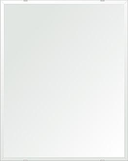 鏡 壁掛け 鏡 ミラー 日本製 四角形 鏡 608mmx760mm クリアーミラー デラックスカット 国産 フレームレスミラー 壁掛け鏡 壁掛けミラー ウォールミラー 姿見 姿見鏡 インテリアミラー (リビング、玄関、廊下、寝室など一般空間用)