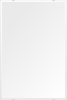 鏡 壁掛け 鏡 ミラー 日本製 高透過 超透明鏡 四角形 鏡 608mmx912mm スーパークリアーミラー デラックスカット 国産 フレームレスミラー 壁掛け鏡 壁掛けミラー ウォールミラー 姿見 姿見鏡 インテリアミラー (リビング、玄関、廊下、寝室など一般空間用)
