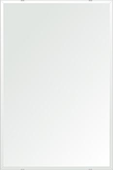 クリスタル ミラー 600x900mm 長方形 デラックスカット 鏡 壁掛け ミラー 壁掛け 日本製 5mm厚 玄関 リビング 寝室 トイレ 取付金具と説明書 壁掛け鏡 壁に直付け ウオールミラー 姿見 全身 おしゃれ 軽量 角型 四角 四角形